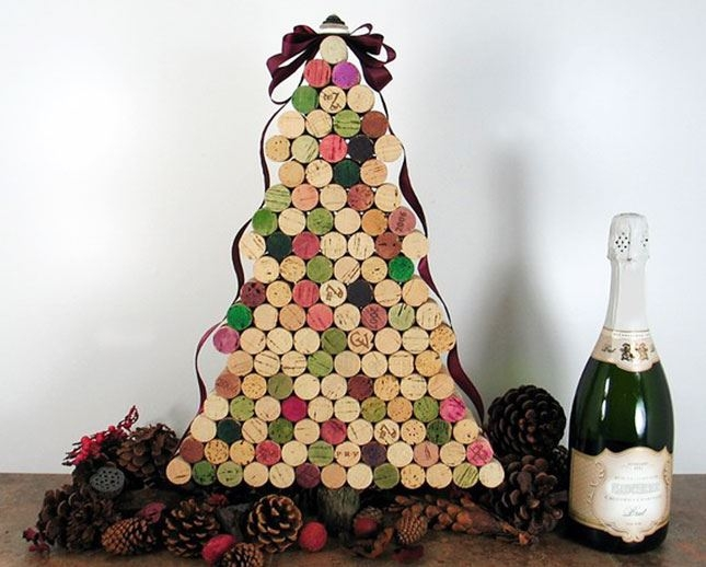 Christmas Tree Made of Wine Corks