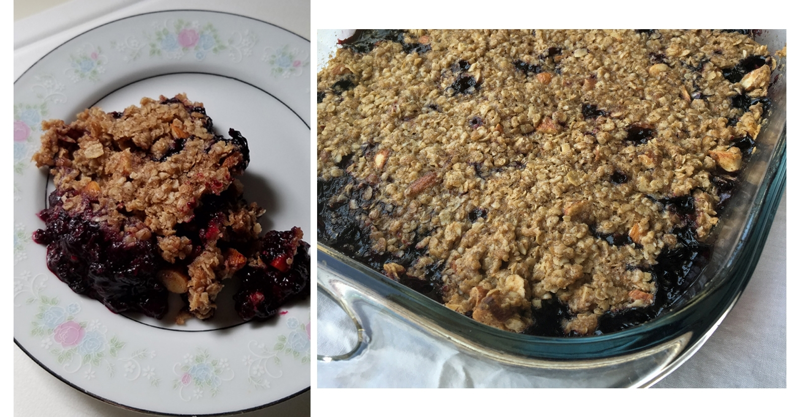 Double Berry Crisp (Gluten Free)