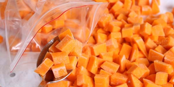 Frozen Cubed Sweet Potato