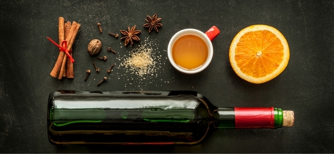 Mulled Wine and Cider Ingredients: Star Anise, Orange, Cinnamon, Cabernet