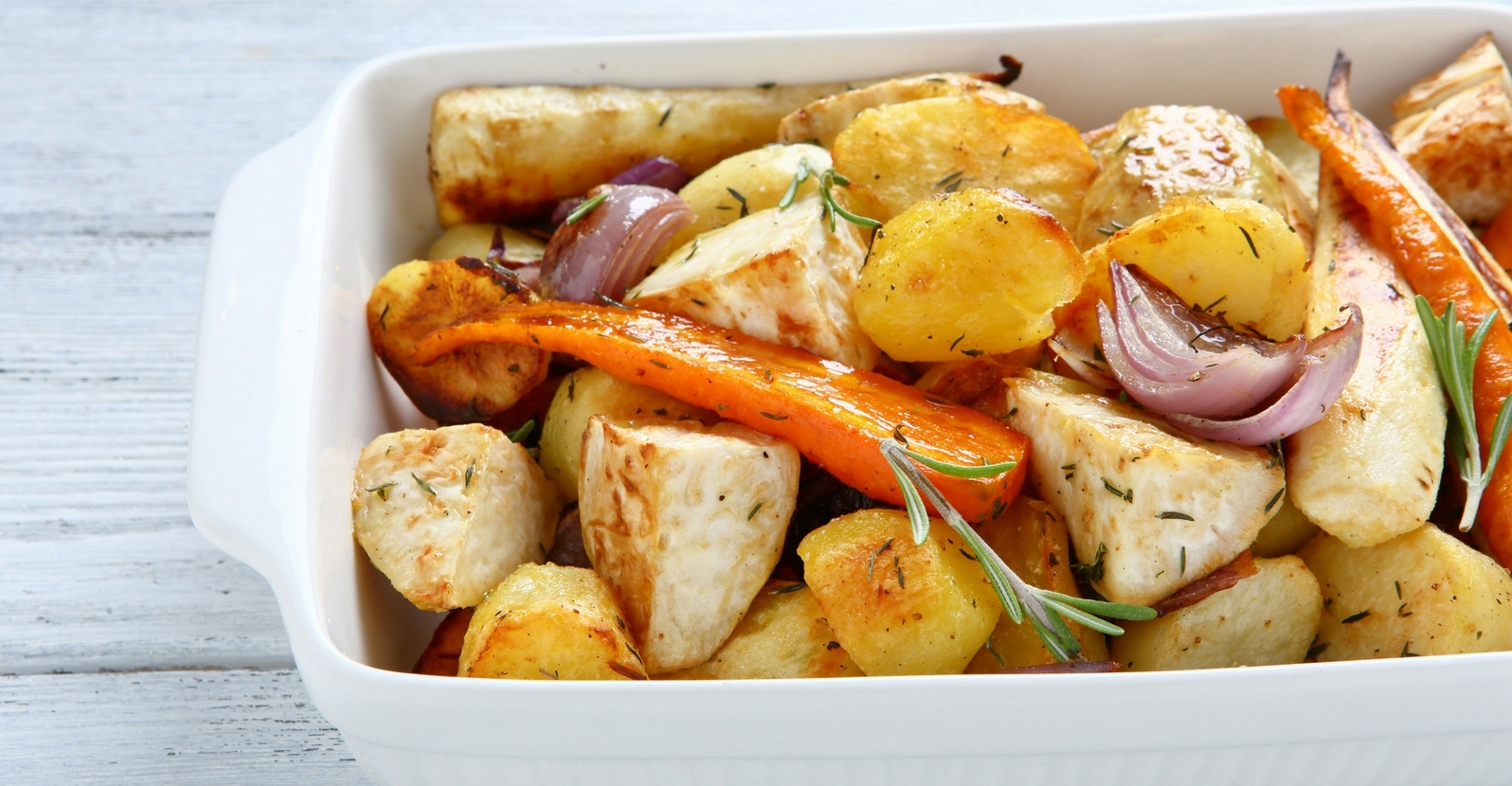 Carrots & Potatoes Roasted with Onion & Garlic