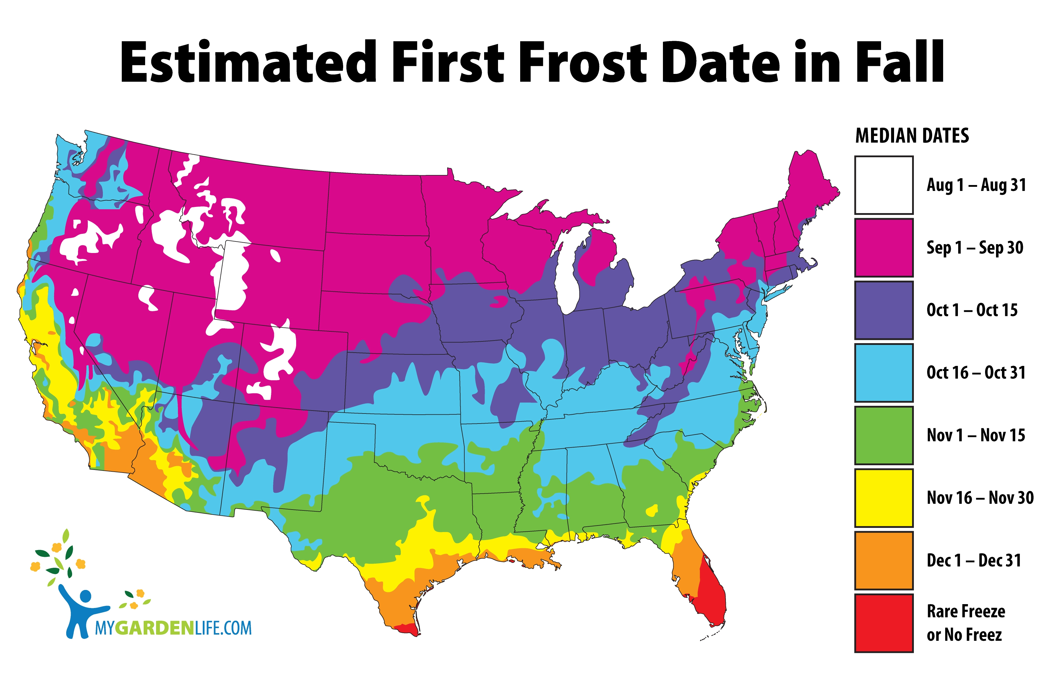 Estimated First Frost Date in Fall