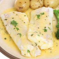 Lemon and Herb Marinade on Baked Haddock