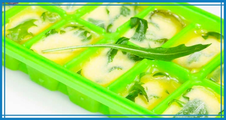 Frozen Herb Cubes with Olive Oil