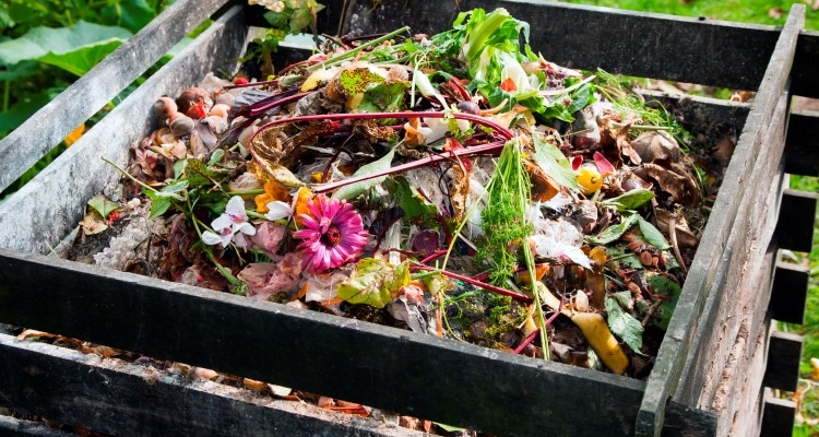 Fall garden cleanup creates lots of clippings for the compost pile