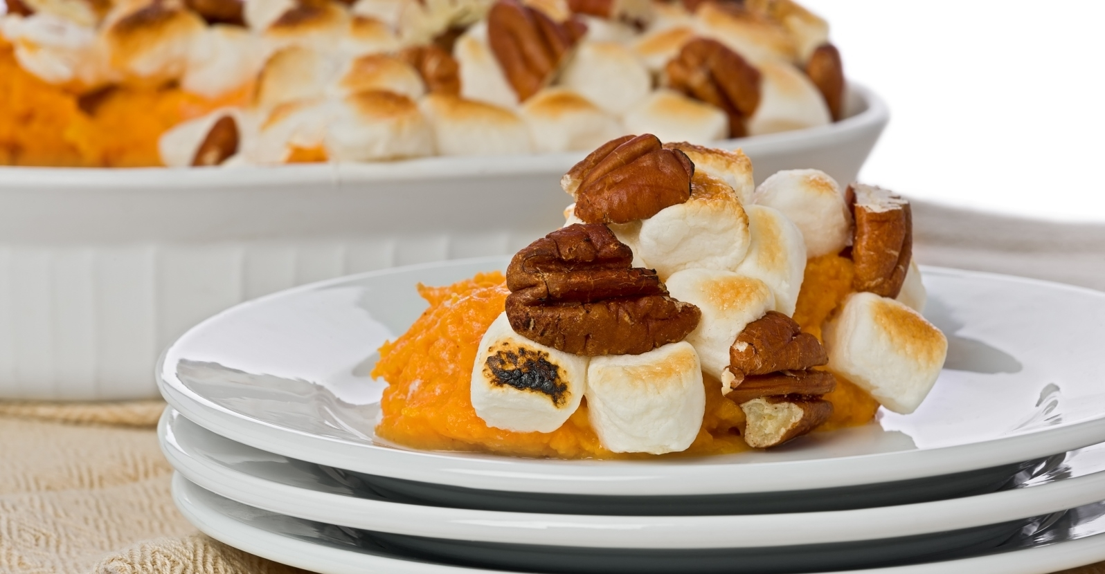 Marshmallow & Pecan Topped Sweet Potato Bake