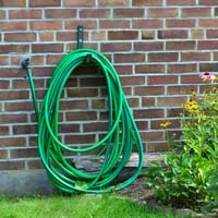 Garden hose on wall