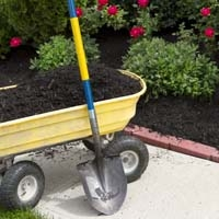 Shovel, Wagon and Mulch