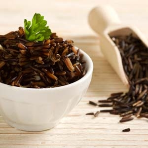 Wild Rice in a Bowl with Parsley