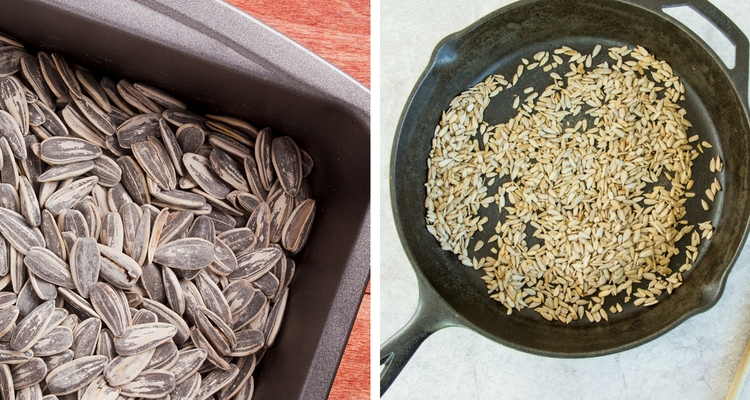 Roast or sautee sunflower seeds.