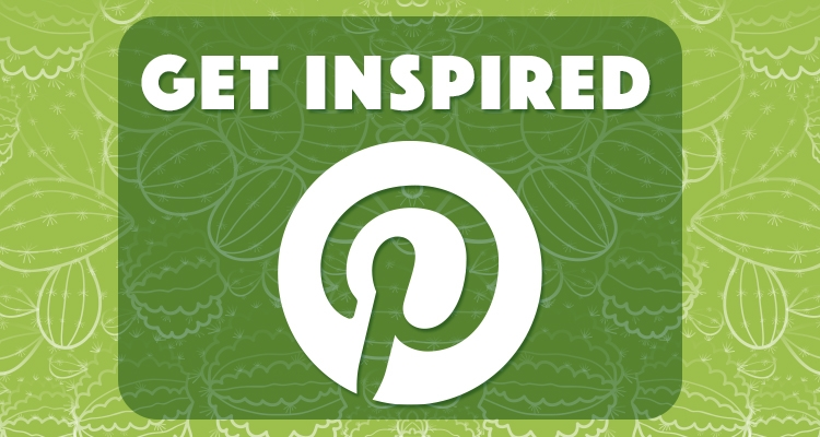 Get Inspired with Pinterest, green cactus background
