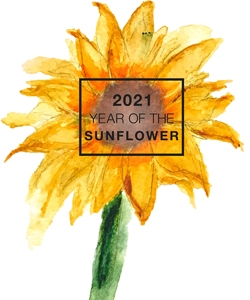2021_Year of the Sunflower Watercolor