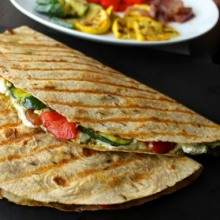how to make veggie quesadillas at home