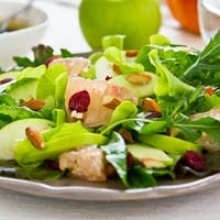 Mixed Green Salad with Grapefruit and Cranberries