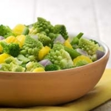 Broccoli Romanesco with Cheese Sauce