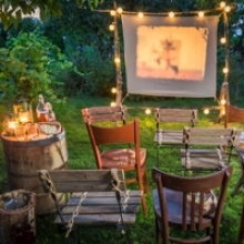Turn Your Backyard into an Outdoor Movie Theater